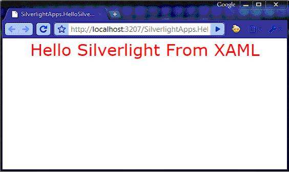 First silverlight application