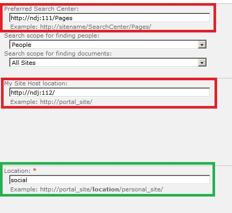 Configuring My Sites in SharePoint 2010